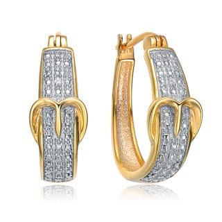 Collette Z Gold Plated Cubic Zirconia Buckle Earrings