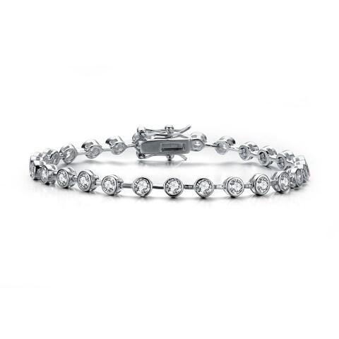 Collette Z Sterling Silver Cubic Zirconia Stud Bracelet - White