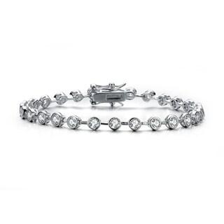 Collette Z Sterling Silver Cubic Zirconia Stud Bracelet