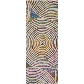 Safavieh Handmade Nantucket Modern Abstract Beige Cotton Runner Rug (2' 3 x 8')