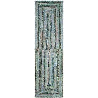 Safavieh Handmade Nantucket Bodhild Contemporary Cotton Rug (23 x 8 Runner - Teal)