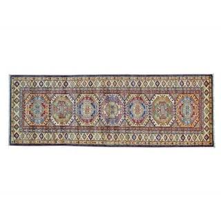 Hand-knotted Runner Super Kazak Oriental Rug (2'10 x 8')