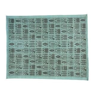 Bakhtiari Natural Undyed Wool Worn Down Oriental Rug - 9'2 x 11'8