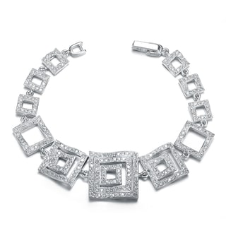 Collette Z Sterling Silver Cubic Zirconia 3D Statement Necklace