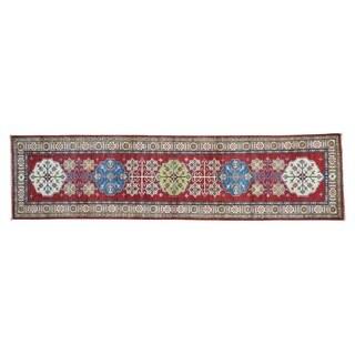 Handmade Super Kazak Runner Tribal Design Oriental Rug (2'8 x 10'7)