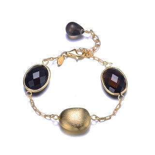 Collette Z Gold Plated Black Cubic Zirconia Bracelet
