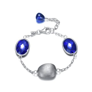 Collette Z Sterling Silver Blue Cubic Zirconia Bracelet