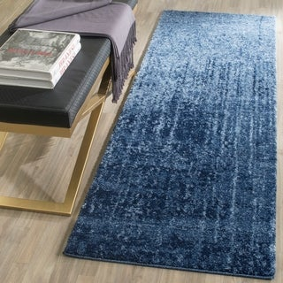 Safavieh Retro Modern Abstract Light Blue/ Blue Rug (2'3 x 7')