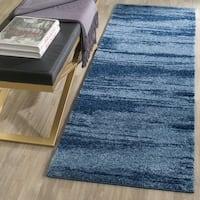 Safavieh Retro Modern Abstract Light Blue/ Blue Distressed Rug - 2'3 x 7'