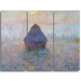 Design Art 'Claude Monet - Grainstack Sun in the Mist' Landscape Canvas Arwork