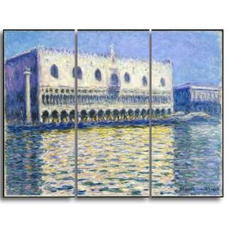 Design Art 'Claude Monet - The Doges Palace' Landscape Canvas Arwork