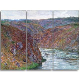 Design Art 'Claude Monet - Valley of the Creuse' Landscape Canvas Arwork