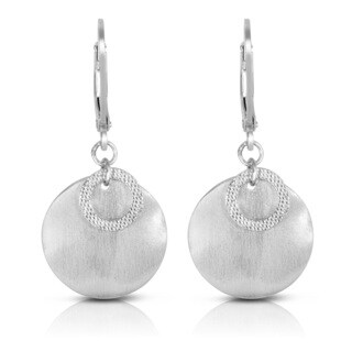 Collette Z Sterling Silver Matte Ball Drop Earrings