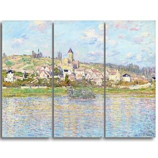 Design Art 'Claude Monet - Vetheuil' Landscape Canvas Arwork