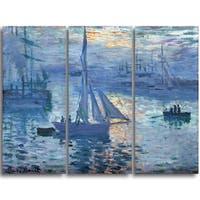 Design Art 'Claude Monet - Sunrise (Marine)' Canvas Art Print