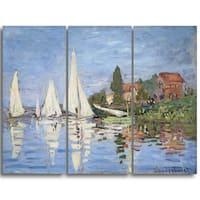 Design Art 'Claude Monet - Regattas at Argenteuil' Canvas Art Print