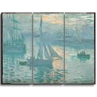 Design Art 'Claude Monet - French Sunrise' Canvas Art Print