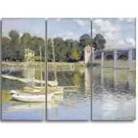 Design Art 'Claude Monet - The Argenteuil Bridge' Canvas Art Print
