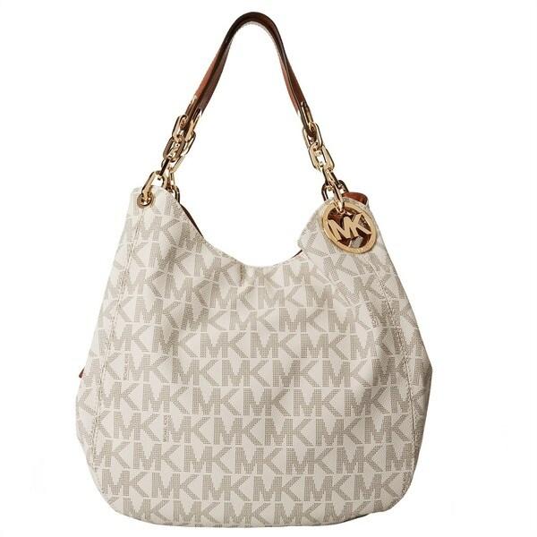e7e0f4c4be4d Shop Michael Kors Fulton Large Vanilla Signature Shoulder Tote Bag - Free  Shipping Today - Overstock.com - 10905226