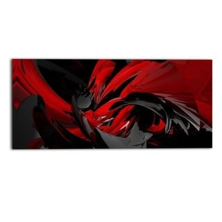 Design Art- Red and Grey Mixer- Canvas Art
