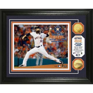 "Dallas Keuchel ""AL Cy Young"" Gold Coin Photo Mint"