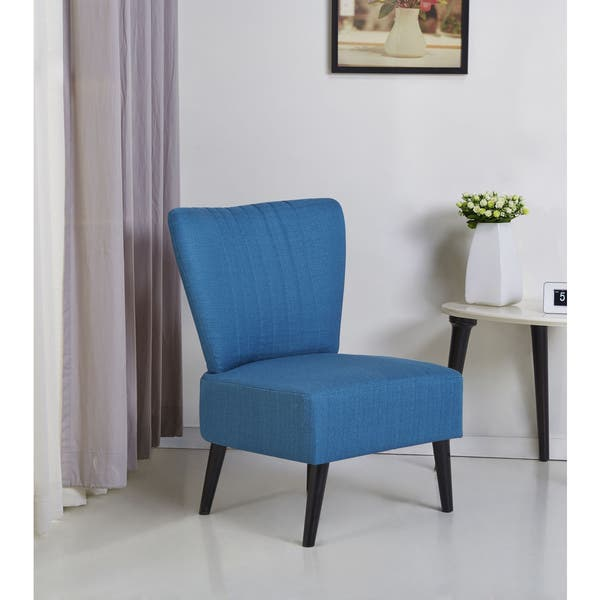 Astonishing Shop Fontana Blue Accent Chair Free Shipping Today Machost Co Dining Chair Design Ideas Machostcouk