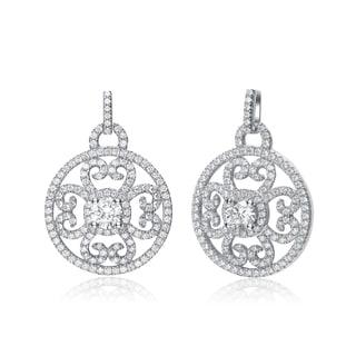 Collette Z Sterling Silver Cubic Zirconia Pendant Earrings