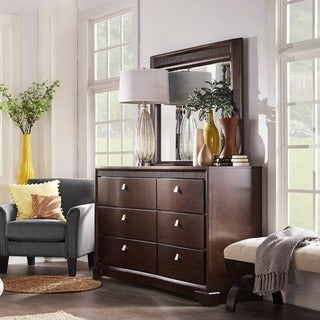 TRIBECCA HOME Marquette Wood 6-drawer Dresser and Mirror