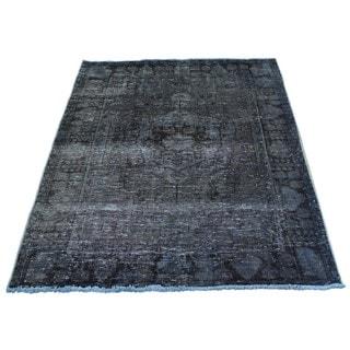 Handmade Worn Down Overdyed Persian Hamadan Oriental Rug (3'6 x 4'8)
