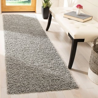 Safavieh Athens Shag Light Grey Runner (2'3 x 6')