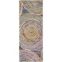 Safavieh Handmade Nantucket Modern Abstract Beige Cotton Runner Rug - 2' 3 x 6'