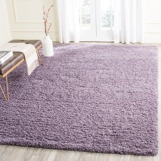 Safavieh Laguna Shag Purple Rug (6'7 x 6'7 Square)
