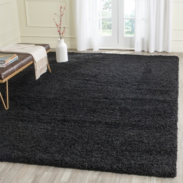 Shop Safavieh Laguna Shag Black Rug
