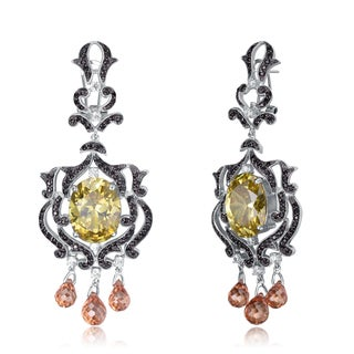 Collette Z Sterling Silver Yellow & Copper Cubic Zirconia Earrings
