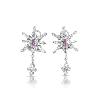 Collette Z Sterling Silver Cubic Zirconia Starblast Earrings