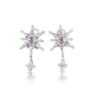 Collette Z Sterling Silver Cubic Zirconia Starblast Earrings