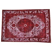 Handmade Red Overdyed Persian Tabriz Oriental Rug - 6'6 x 9'8