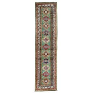 Super Kazak Runner Geometric Design Oriental Rug (2'6 x 10')