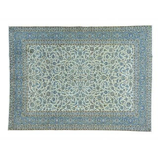 Old Persian Kashan Full Pile Exc Cond Hand-knotted Rug (10' x 13'6)