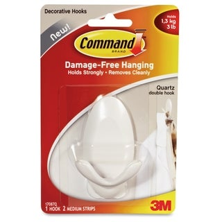 Command Quartz Double Hook - 1/PK