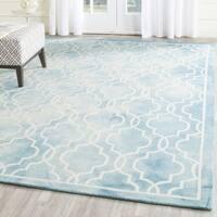 Safavieh Handmade Dip Dye Watercolor Vintage Turquoise/ Ivory Wool Rug (7' x 7' Square)