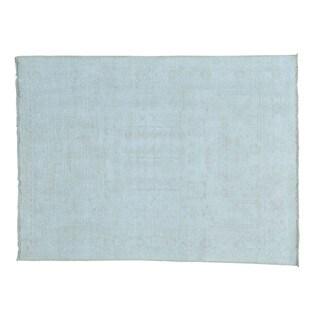 Beige Hand-knotted Khotan Pure Wool Oriental Rug (5'1 x 6'10)