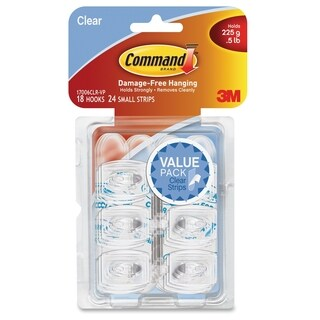 Command Clear Mini Hook Value Pack - 18/PK