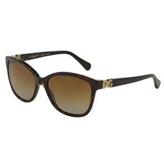 Dolce & Gabbana Women's DG4258 Tortoise Plastic Square Polarized Sunglasses