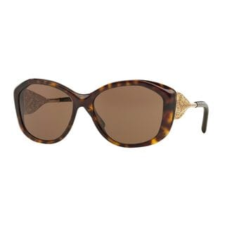 Burberry Women's BE4208Q Tortoise Plastic Cat Eye Sunglasses