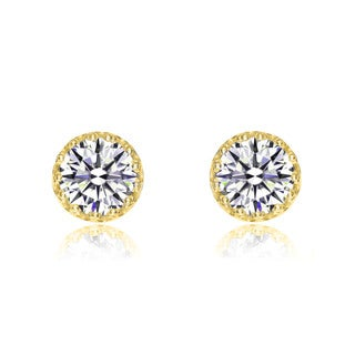 Collette Z Gold Plated Cubic Zirconia Fascination Earrings
