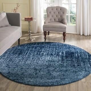 Safavieh Retro Modern Abstract Light Blue/ Blue Rug (6' Round)