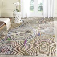 Safavieh Handmade Nantucket Modern Abstract Beige Cotton Rug - 4' Square