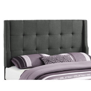 Linon Prestige Dark Grey Linen Headboard - Full / Queen