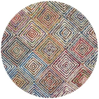 Safavieh Handmade Nantucket Modern Abstract Cream Cotton Rug (4' x 4' Round)